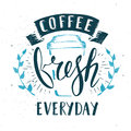 Coffee Cafe Fresh Everyday Fictitious name Template Hand Drawn C