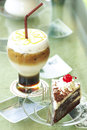 Coffee with cake detail Royalty Free Stock Images
