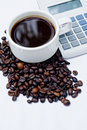 Coffee and Calculator Royalty Free Stock Image