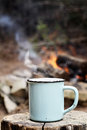 Coffee by a Campfire Royalty Free Stock Photo
