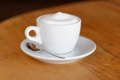 Coffee cappuccino cup of cappuccino selective focus Stock Photos