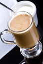 Coffee cappuccino in glassy mug Stock Photography