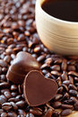 Coffee and chocolate candy . Stock Photography