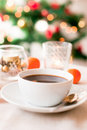 Coffee on Christmas morning Stock Images