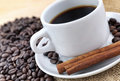 Coffee and cinnamon Royalty Free Stock Images