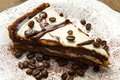 Coffee cke white dish with cake Royalty Free Stock Photography