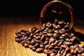 Coffee, coffee beans, roasted coffee, roasted coffee beans, coff Royalty Free Stock Photo