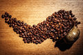 Coffee, coffee beans, roasted coffee, roasted coffee beans, coff Royalty Free Stock Photo