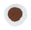 Coffee in coffee filter Royalty Free Stock Photo