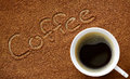 Coffee and coffee powder Royalty Free Stock Photo