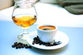Coffee and cognac Stock Images