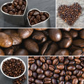 Coffee colage Stock Photography