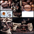 Coffee collage 1 Stock Image