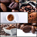 Coffee collage 2 Stock Images