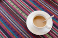 Coffee with the colorful background Stock Images