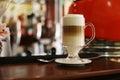 Coffee with condensed milk and honey delicious Stock Photos
