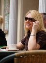 Coffee, conversation and sunshine Royalty Free Stock Photo