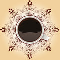 Coffee at the creative serviette vector illustrated idea excellent taste of Royalty Free Stock Image