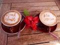 Coffee crema art Rarotonga Cook Islands Royalty Free Stock Photo