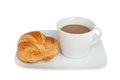 Coffee and croisant Royalty Free Stock Photo