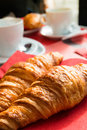 Coffee and croissants Royalty Free Stock Image