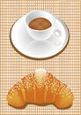 Coffee and croissants Royalty Free Stock Images
