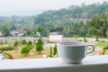Coffee In A Cup On Balcony Wit...