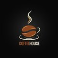 Coffee cup bean design background Royalty Free Stock Photo