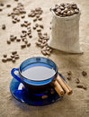 Coffee cup and beans Royalty Free Stock Photography