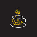 Coffee cup on a black background Royalty Free Stock Image