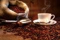 Café taza despido bolsa de