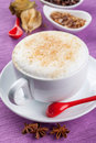 Coffee cup cappuccino in white big Royalty Free Stock Images