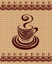 Coffee cup card 2. Royalty Free Stock Images