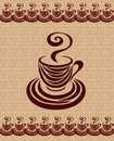Coffee cup card 3. Royalty Free Stock Photo