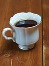 Coffee cup closeup shallow depth of field Royalty Free Stock Photography