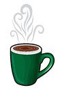 Coffee cup coffee mug vector illustration of the Stock Photography