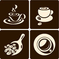 Coffee cup. Coffee scoop Royalty Free Stock Photos