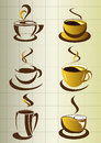 Coffee cup elements and collection Stock Photo