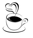Coffee cup emblem vector illustration Stock Photo
