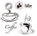 Coffee cup emblem vector illustration Stock Photography