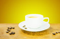 Coffee cup and gain with aromatic Royalty Free Stock Images
