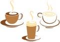 Káva pohár grafika