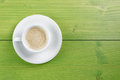 Coffee Cup Green Wood Background