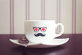 Coffee Cup Hipster Concept Bac...