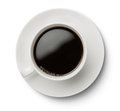 Coffee cup isolated on white background high angle view of with clipping path Stock Images