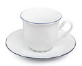 Coffee cup over white background Royalty Free Stock Photo