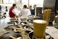 Káva pohár a podšálek na kavárna
