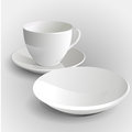 Coffee cup and saucer vector illustration Royalty Free Stock Photo