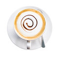 Coffee cup and saucer on white background Royalty Free Stock Image