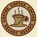 Coffee cup sign Royalty Free Stock Images